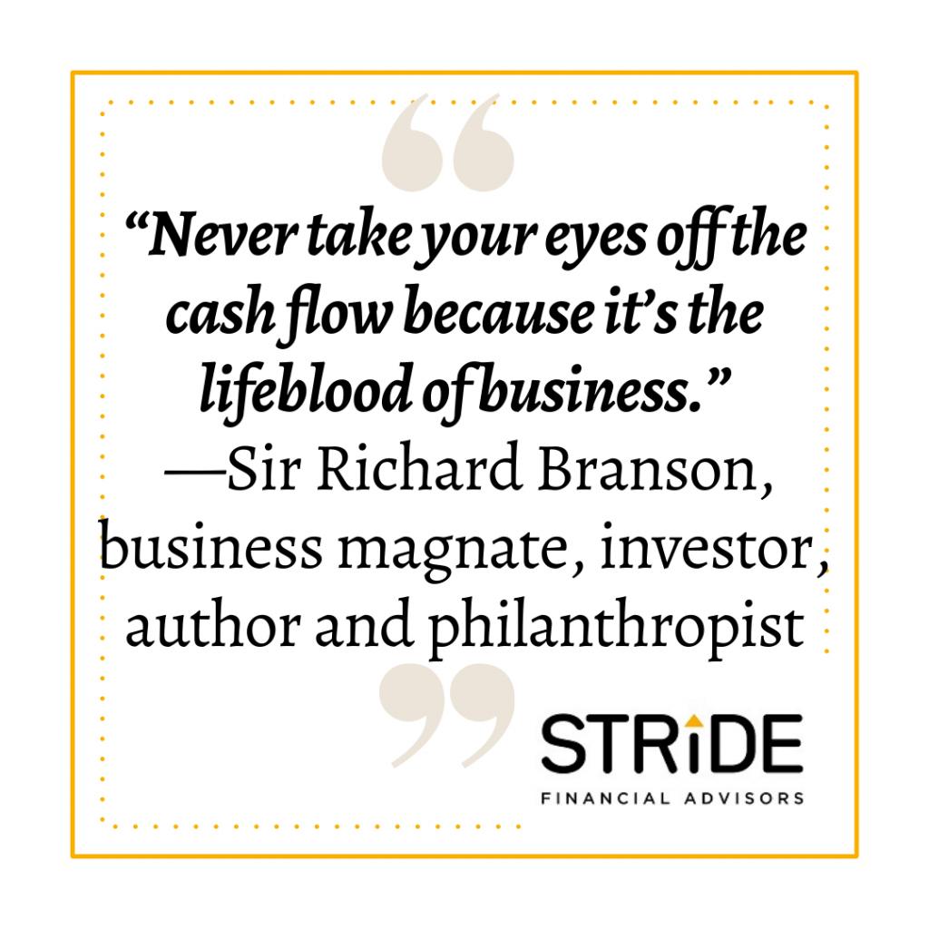cash flow plan quote by Sir Richard Branson